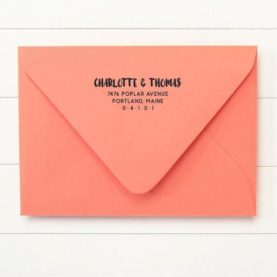 Address Stamp / Return Address / Self Inking Return Address Stamp - ADVENTURE DESIGN - Housewarming Newlywed Gift