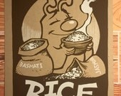 Rice - Stuff I Like series screenprint