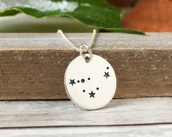 Zodiac Jewelry, Constellation necklace, Aries Taurus Gemini Aquarius Pisces Leo Scorpio Cancer Virgo Libra Sagittarius Capricorn, Star Sign