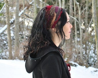 Headband - Dreadband - Boho Headband - Hippie Headband - Womens Headband - Sacred Geometry Dread Wrap