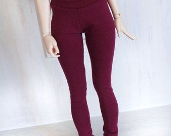 BJD Doll Minifee clothes MSD Burgundy legging Ready to ship MonstroDesigns