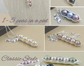 1, 2, 3, 4, 5, pea pod, Mommy necklace, peas in a pod, gift for her, personalized gift, gift for mom, mom to be, push gift, baby shower gift