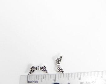 20 Angel Wings Beads - Antiqued Silver - 9mm x 20mm - Lead free - Nickel Free