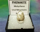 Sale Rare PHENAKITE Phenacite Natural Terminated High Vibration Crystal In Perky Mineral Specimen Box From Russia Sale