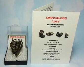 METEORITE LOVE Campo Del Cielo Heart Shape Meteorite Genuine Campo Del Cielo Outer Space Rock From Argentina Rare