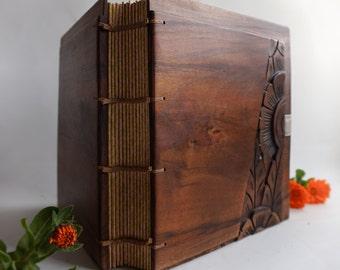 Wooden Wedding Photo album Anniversary photo book