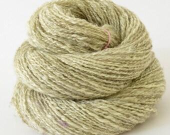 Handspun Yarn - Silk / Babydoll Southdown  -  1oz, 140yd, WPI 16