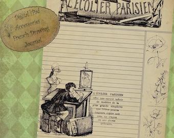 Instant Download Digital iPad Accessories - Printable Journal Kit Drawing Journal