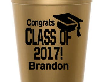 2017 Graduation Party Cup, Personalized Graduation Cup, Personalized Grad Stadium Cup