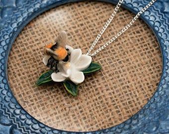 Bumblebee Necklace, Bee Necklace, Honey Bee Jewelry, Animal Necklace