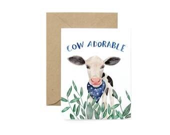 Cow Adorable Card