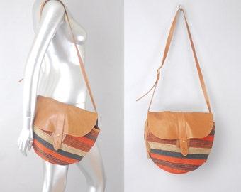 Sabra sisal bag | vintage sisal bag | cross body sisal purse