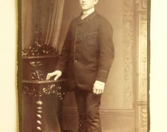 Antique Cabinet Card Young Man CC2015