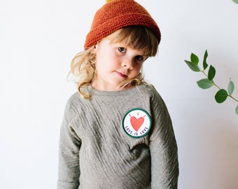 Organic baby kids top moss