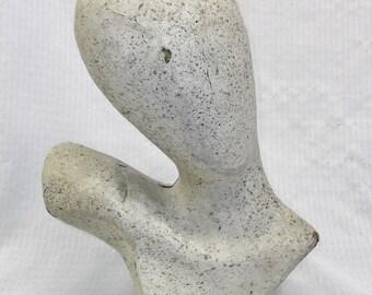 Vintage Mid Century Paper Mache Mannequin Head
