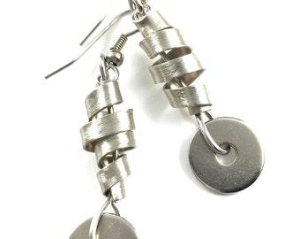 Twisted Dangle Earrings Hardware Jewelry