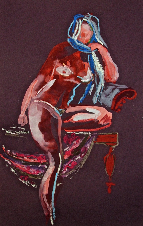 Nude painting#1388 Original painting by Gretchen Kelly