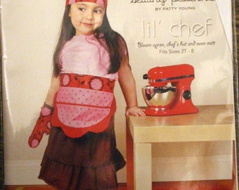 Modkid Sewing Pattern by Patty Young  - Lil' Chef - Sizes 2T-8