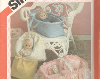 Simplicity 6056 1980s Doll Carriers Pattern for Dolls up to 18 Inch Vintage Craft Toy Sewing Pattern UNCUT