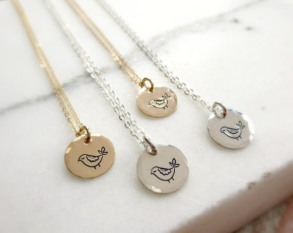 Cute birds of a feather pendant necklaces