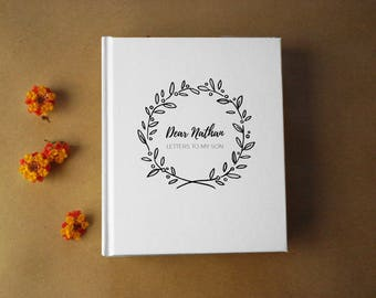 Letters to Baby · Letters to my son · Deluxe New Baby Journal · Pregnancy Planner Notebook· Personalized Baby Shower Gift · Gift for New Mom