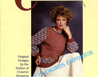 Creative Knitting, Original Designs for Men & Women by Kaori O'Connor, 27 Designs Over 100 Combinations, Vintage Knitting Book