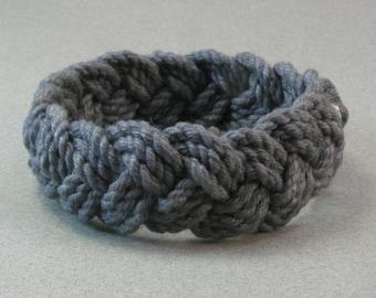 midnight blue cotton rope bracelet turks head knot bracelet 3990