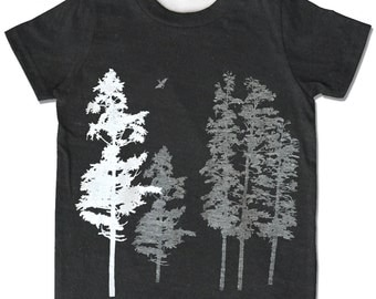 Kids Tree t shirt, Nature Shirt, Tree Shirt, T-shirts, Children Clothing, Kids Clothes, forest shirt, Hemlock trees, boy girl tree shirt