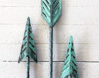 Metal Arrow, Home Decor, Arrow Wall Art, Native American Home Decor, Gray Home Decor, Tribal Decor, Arrow Art, Rustic Home Decor