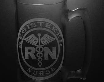 Registered Nurse 25 Ounce Beer Mug