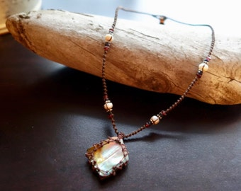 Abalone Macrame Necklace | Vessel for Cleansing Seashell