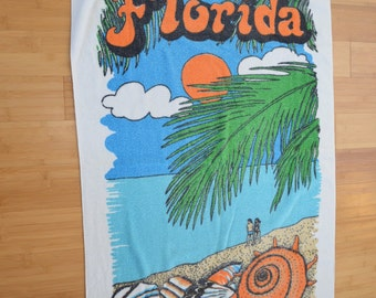 Vintage FLORIDA Beach Towel surf beach theme