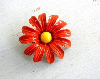 Daisy Enamel Flower Brooch | Enamel Daisy Pin | Vintage Jewelry | Enamel Flower Pin | Vintage Flower Pin | Enamel Jewelry