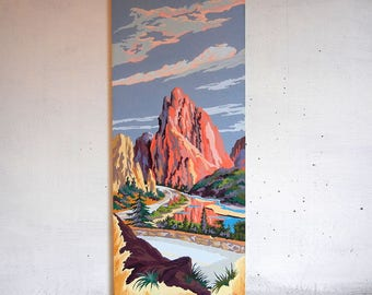 Garden of the Gods Paint By Number Painting PBN   Craftint   Colorado Springs Painting   Landscape PBN   National Natural Landmark