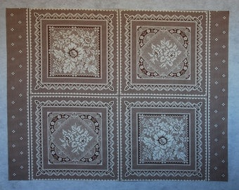 Doily Look Pillow Panel