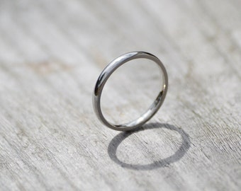 platinum wedding band platinum wedding ring 2mm wide or 3mm wide simple wedding - Platinum Wedding Rings