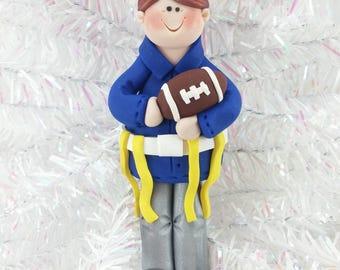 Gift for Flag Football Player - Flag Football Ornament - Football Christmas Ornament - Handmade Polymer Clay - Football Fan Gift - 3151