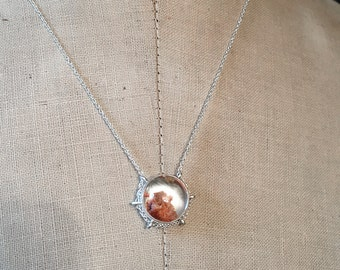 In my other world...phantom quartz in sterling silver path necklace