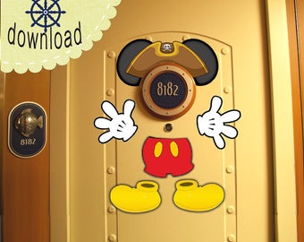 Pirate Mickey Disney Cruise Door Magnet Design - DOWNLOAD NOW Use as Disney Cruise Door Decorations and Clip Art