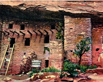 Vintage Colorado Postcard - Manitou Cliff Dwellings, Manitou Springs (Unused)