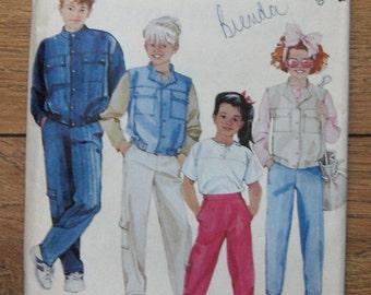 vintage 80s McCalls pattern 2704 boys girls jacket shirt vest pants sz  10 uncut