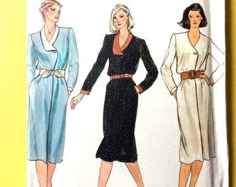 Uncut Very Easy Vogue 7883 Misses Wrap Dress Early 80s or Late 1970s Vintage Sewing Pattern  Bust 36 inches