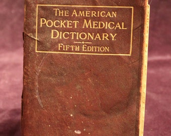 Vintage American Pocket Medical Dictionary 1907 Fifth edition