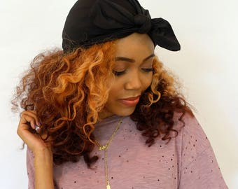 BlackBow Turban Hat Womens Turban Cap Stretchy Turban Cap - or Choose Your Color