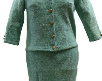 Vintage Skirt Suit Vintage Mint Green Knit Skirt Suit Vintage Suits For Women Retro Outfits For Ladies Vintage Suits For Ladies