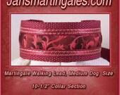 Jansmartingales, Collar and Leash Combination Walking Lead, Whippet, Medium Dog Size, wbur123