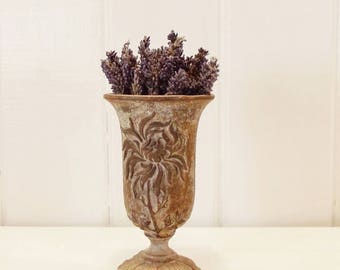 Vintage French Cast Iron Vase