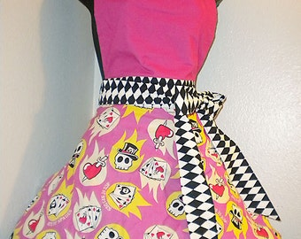 Skulls and Cards Apron
