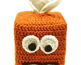 Monster Tissue Box Cover - PDF Crochet Crochet Pattern - Instant Download