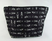 POUCH- Skeleton Dance (**Black Color**) **handmade**
